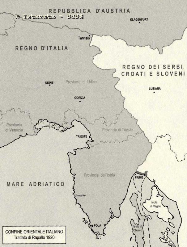 Dalmazia Italiana Cartina.L Istria Una Terra Di Confine